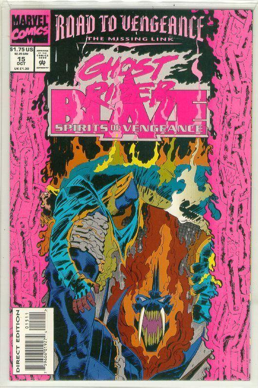 SPIRITS of VENGEANCE #15 (Ghost Rider & Blaze) NM!