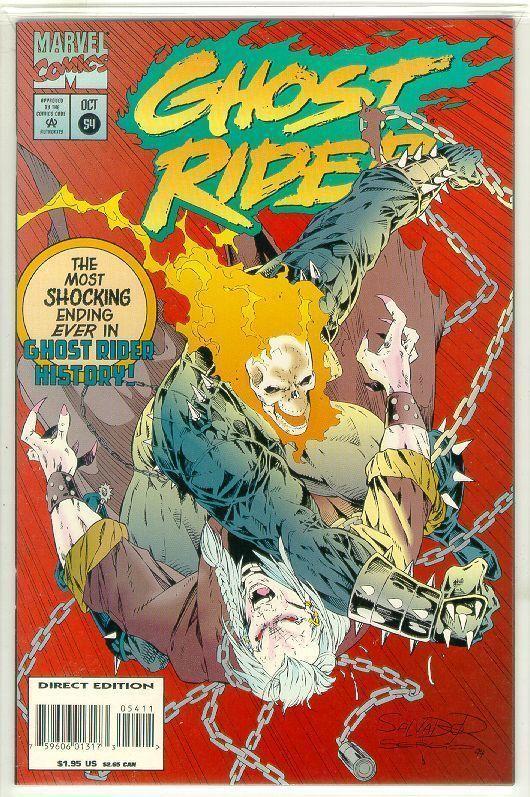 GHOST RIDER #54 (1990 Series) NM!
