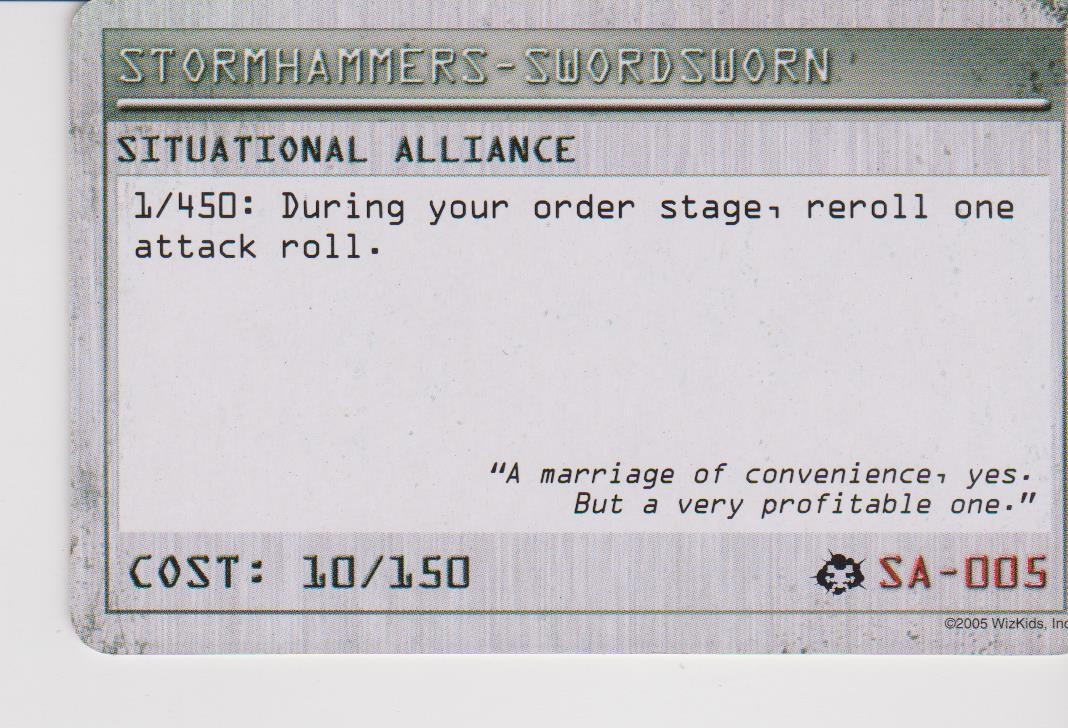 Mechwarrior SITUATIONAL ALLIANCE - STORMHAMMERS-SWORDSWORN AOD SA-005