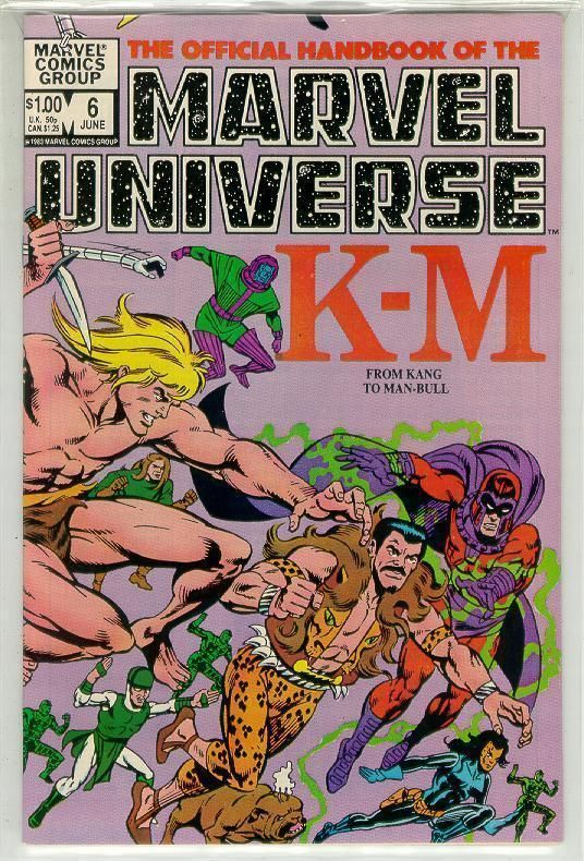 OFFICIAL HANDBOOK OF THE MARVEL UNIVERSE #6 NM!
