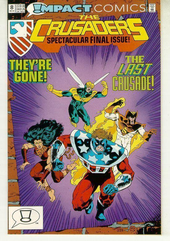 CRUSADERS #8 (Impact Comics, 1992) NM!