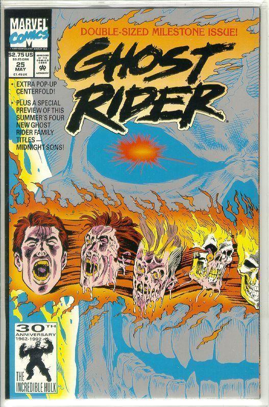 GHOST RIDER #25 (1990 Series) NM!
