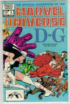 OFFICIAL HANDBOOK OF THE MARVEL UNIVERSE #4 NM! - $2.50