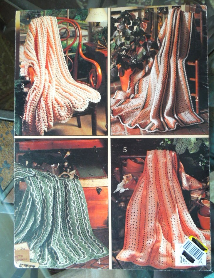 Vintage Crochet 1993 Wonderful Mile A Minute Afghans5 Easy Crochet Designs #7002