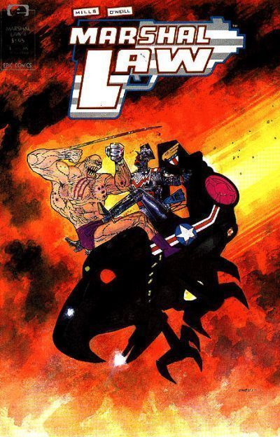 MARSHAL LAW #4 (Epic Comics) NM!