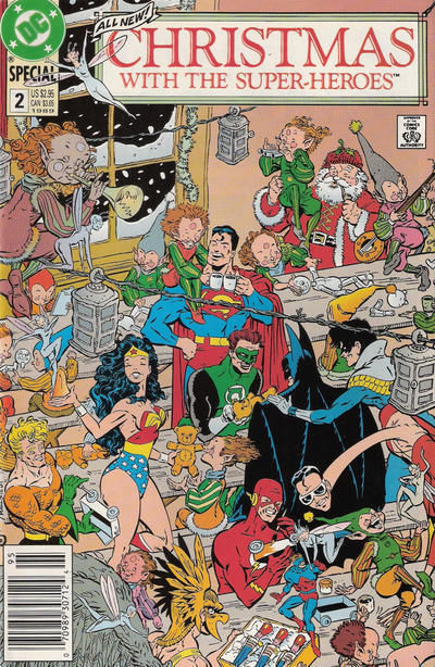 CHRISTMAS WITH THE SUPER-HEROES #2 (DC Comics, 1989) NM!