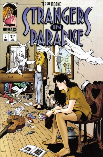 STRANGERS IN PARADISE #5 (Homage Studios, 1996 Series) NM!