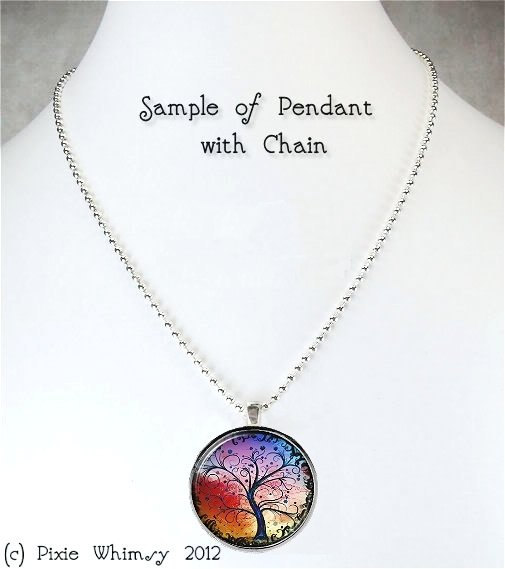 ALICE In WONDERLAND Necklace, King and Queen Of Hearts, Art Glass Pendant Charm
