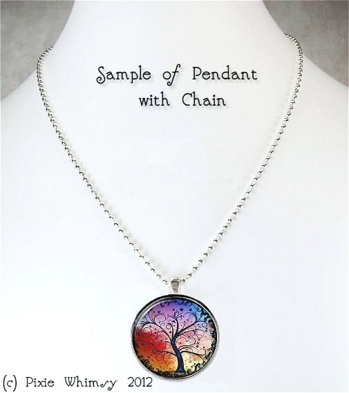 Leaves Necklace Art Pendant Jewelry with Ball Chain, Autumn Leaves, Fall Leaves