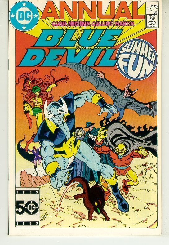 BLUE DEVIL ANNUAL #1 (DC Comics, 1985) NM!