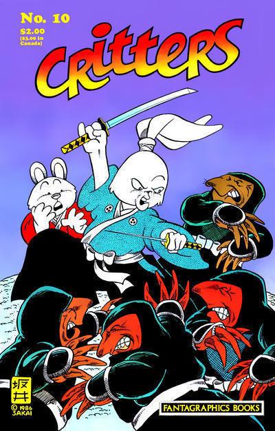 CRITTERS #10 (Fantagraphics, 1986) ~ Usagi Yojimbo
