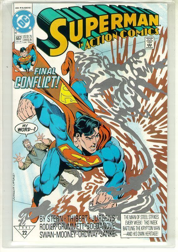 ACTION COMICS #667 NM! ~ SUPERMAN!