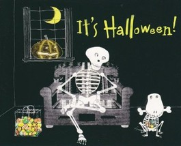 "Greeting Halloween Card Granddaughter ""Happy Halloween"" Wear a Costume I... - $1.50"