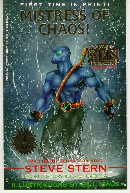 ZEN INTERGALACTIC NINJA: MISTRESS of CHAOS (Entity Comics) NM!