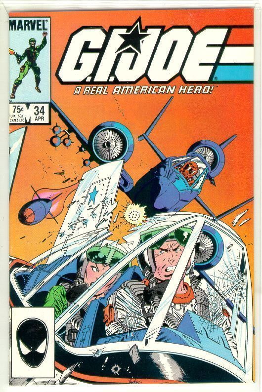 GI JOE, A REAL AMERICAN HERO #34 NM!