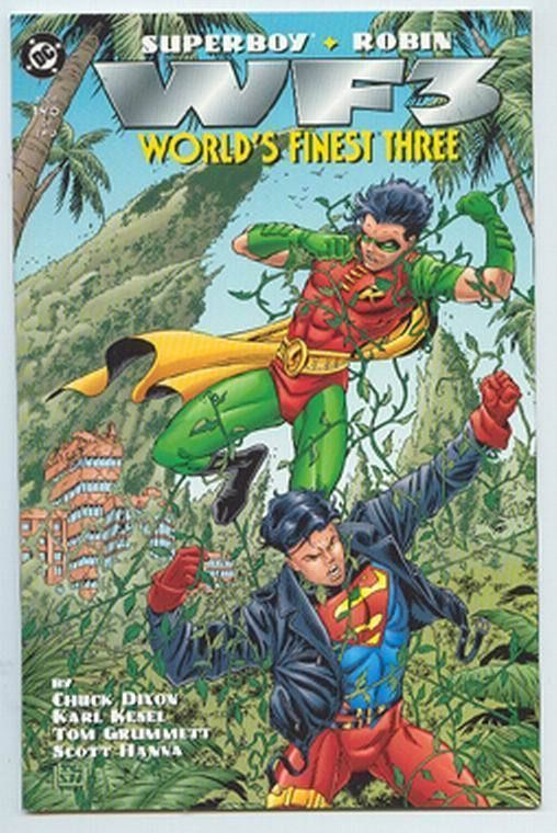 WORLD'S FINEST THREE #2 (DC Comics, 1996) ~ Superboy & Robin