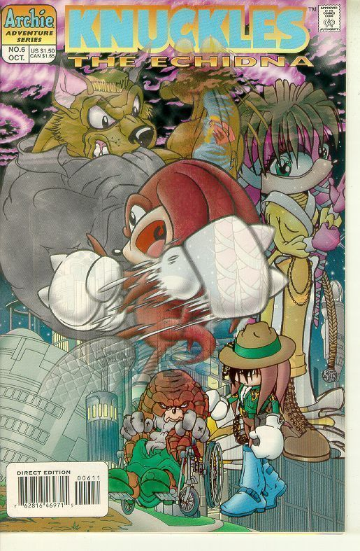 KNUCKLES the ECHIDNA #6 (Archie Comics) NM!