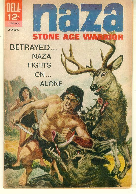 NAZA, STONE AGE WARRIOR #3 (Dell Comics, 1964)