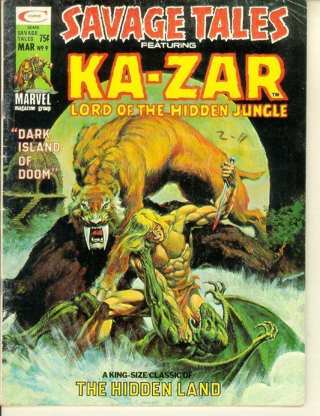 SAVAGE TALES #9 (Marvel Comics) ~ KA-ZAR
