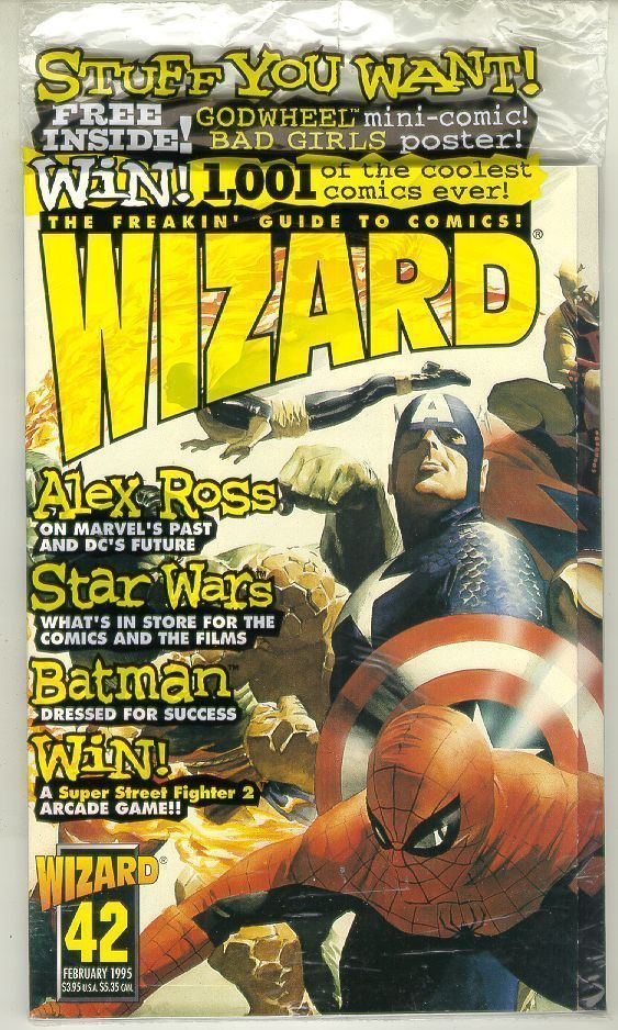 WIZARD: The GUIDE to COMICS #42 (Heroes Cover) NM!