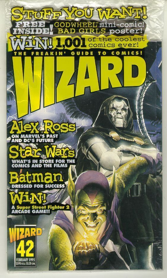 WIZARD: The GUIDE to COMICS #42 (Villains Cover) NM!