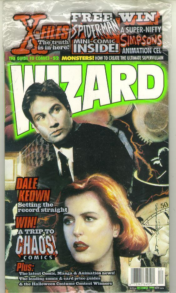 WIZARD: The GUIDE to COMICS #52 (X-Files Cover) NM!