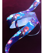 "Disney Frozen Anna Printed Grosgrain Ribbon 1""/DIY Hair Bows/Kids Crafts  - $2.00"