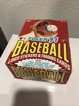 FLEER 1991 BASEBALL CARDS & Stickers 36 FACTORY SEALED PACKS in Opened Box - $33.66