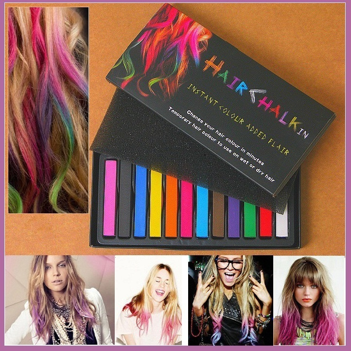 Bright Hair Painting Color Fast Non-toxic D.I.Y. Pastel Temporary Dye Chalk