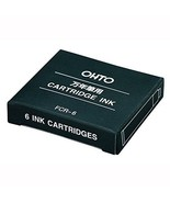 OHTO-stationery-ink fountain pen cartridge FCR-6 blue-black - $6.07