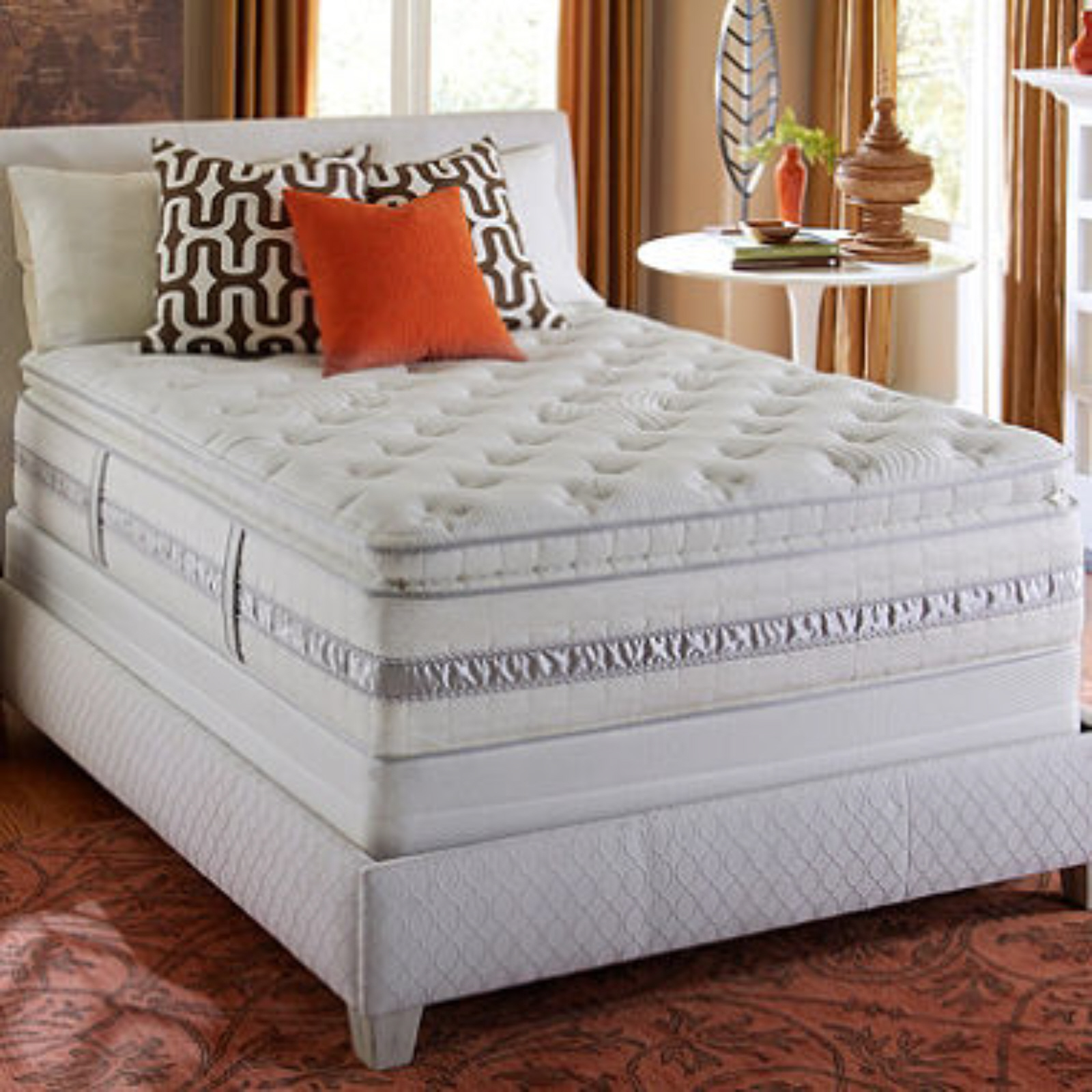 Perfect Sleeper Kingsdale Super Pillowtop Mattress Set Full Bedroom Furniture Beds Mattresses