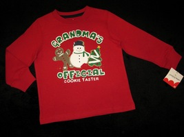 Boys 3 T   Jumping Beans    Grandmas's Official Cookie Tester Holiday Shirt - $12.00