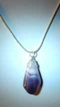 Polished/Tumbled Amethyst Gemstone Pendant #1 - $12.00