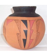 SIGNED R GALVAN MEXICO NATIVE INDIAN MATTE POTTERY ART - $180.93