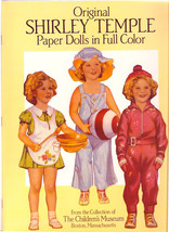 Original SHIRLEY TEMPLE Paper Dolls in Full Color 4 Dolls Mint in Book - $9.84