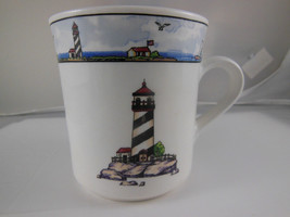 Totally Today Coastal Lighthouse coffee tea mug cup Nautical theme - $3.80