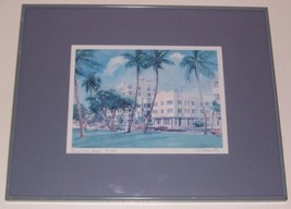 SIGNED ROBERT E KENNEDY CITY OF MIAMI BEACH ART PRINT - $288.18