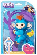 Fingerlings Interactive Baby Monkey Boris Blue Figure w/ Orange Hair AUT... - $14.99
