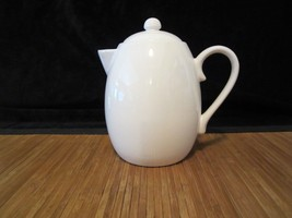 Starbucks Pottery Ceramic Coffee Tea Pitcher 30.4 oz White - $15.99