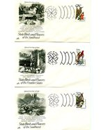 Fine Set (50) 1982 FDC 20 Cent STATE BIRDS & FL... - $30.00