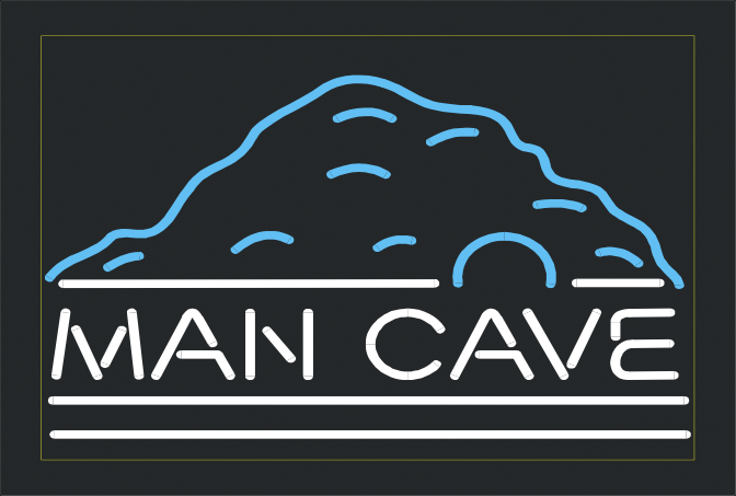 Man Cave Expo Melbourne Tickets : Man cave neon sign quot