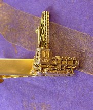 Bucyrus Erie Crane Tie clip Vintage Tieclip Engineer Industries Caterpil... - $95.00