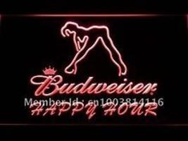 Budweiser Happy Hour LED neon light sign  - $29.99