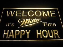 neon light sign  Miller Time  Happy Hour Bar Beer Pub  - $29.99