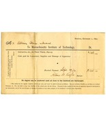 1892 MIT College Tuition Bills for ALLISON OWEN... - $15.00