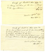 3 EARLY 19th c. TAUNTON, MA Docs. Work on Brist... - $17.59