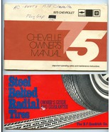 1975 Chevrolet CHEVELLE Owner's Manual w/ Tung-... - $20.00