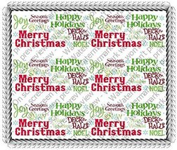 Nordic Greetings Merry Christmas Birthday Celebration Cake Borders Desig... - $8.54