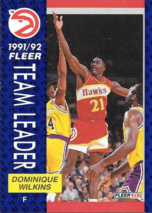 Dominique Wilkins ~ 1991-92 Fleer #372 ~ Hawks