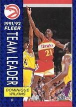 Dominique Wilkins ~ 1991-92 Fleer #372 ~ Hawks - $0.05